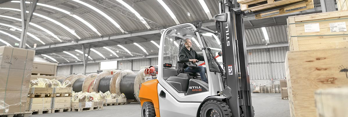 Used forklifts   Electronics industry